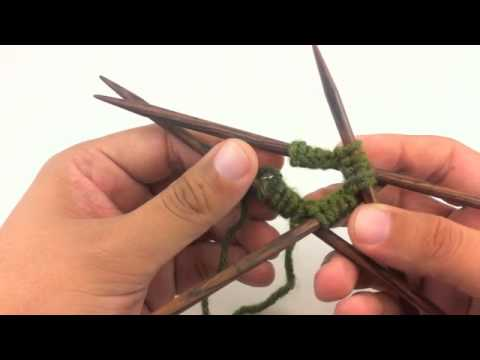 How to Knit in the Round with Double Pointed Needles