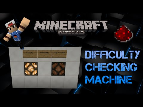 Minecraft Pocket Edition :: Check your Difficulty Redstone Machine