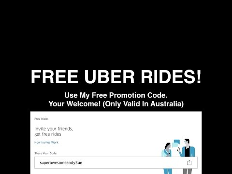 Want Free Uber? (For Australia And United States)