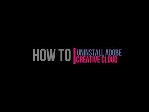 Tutorial #18 How to Uninstall Adobe Creative Cloud (Windows)