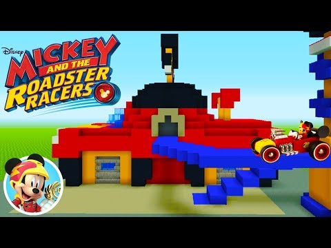 Minecraft Tutorial: How To Make Mickey And The Roadster Racers Garage