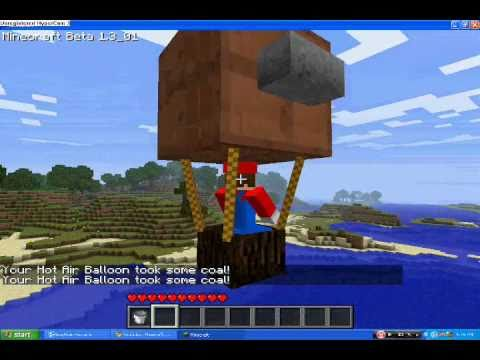 Minecraft how to make a hot air balloon