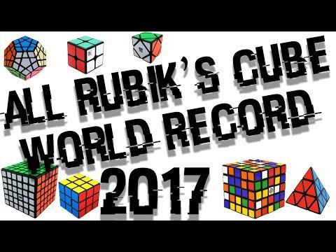ALL RUBIK'S CUBE WORLD RECORD 2017!