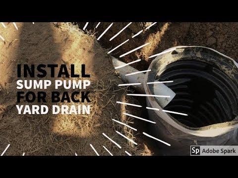 How to Install Sump Pump  - Backyard Drainage Solutioins -