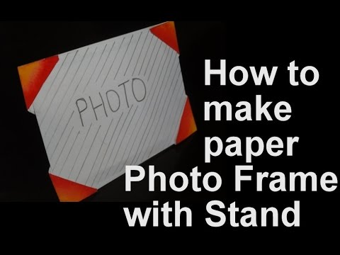 How to make paper photo frame with stand