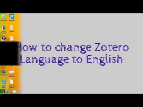 How to Change Zotero Standalone Language to English