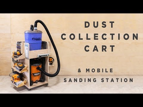 Dust Collection Cart - Shop Vac and Separator Storage