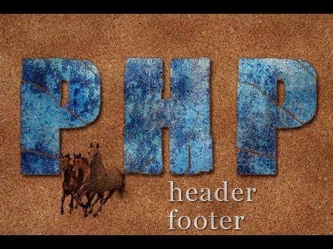 Dynamic website4 php header-footer تكويد الهيدر و الفوتر