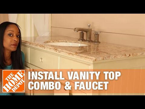 Easy Bath Updates: Part 2 - Install Vanity Top Combo & Faucet