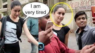 Shraddha Kapoor Gently Clicks Selfies With Fans Despite Of Being Tired