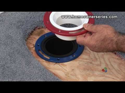 How to Fix a Toilet - Wooden Sub-Flooring Flange Repair - Part 2 of 3