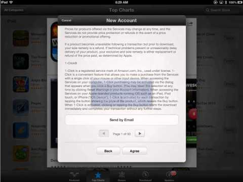 Create an Apple ID on the iPad