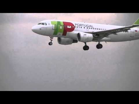 TAP air Portugal landing at Manchester