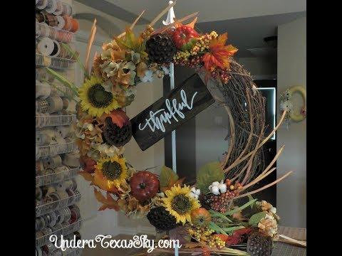 Fall Grapevine Wreath Tutorial