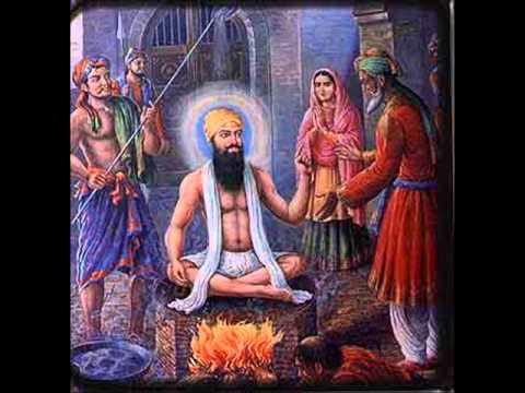 Guru Arjan Dev ji explaining a Jeevan Mukat to Mian Mir