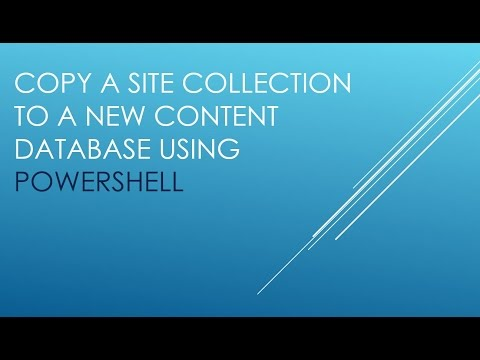 Copy a Site Collection to new Content Database using PowerShell