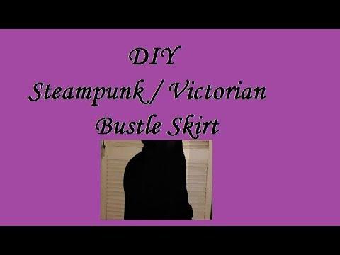 DIY Steamunk / Victorian Goth Bustle Skirt