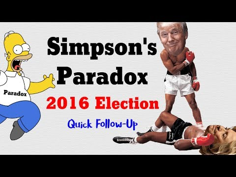 Simpson's Paradox in the 2016 Election: Quick Follow-Up