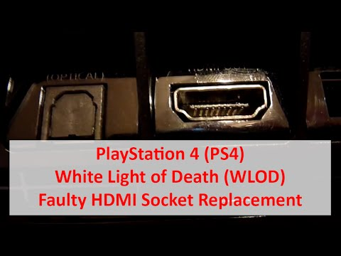 PlayStation 4 PS4 White Light of Death (WLOD) - Faulty HDMI Socket Replacement