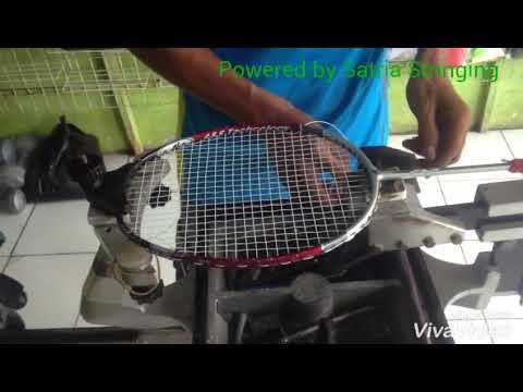 Stringing badminton racket fix Strings squeezed / Pasang senar badminton, mengatasi senar terjepit