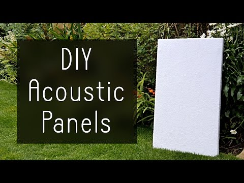 How to Make High Performance Sound Absorption Panels for $5