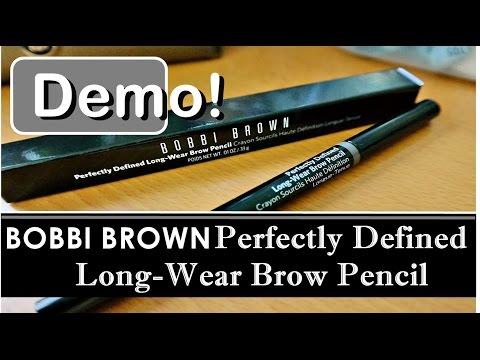 Bobbi Brown Eyebrow Shaping Pencil Makeup Demo   Perfectly Defined Long-Wear Brow Pencil