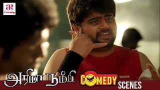 Arima Nambi Tamil Movie Comedy | Vikram Prabhu | Priya Anand | Arjunan | MS Baskar | Yog Japee