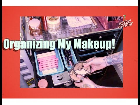 How I Organize My Makeup Tutorial Collection! by CHERRY DOLLFACE