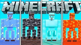 MAKING NEW GOLEMS IN MINECRAFT || BB IS LIVE