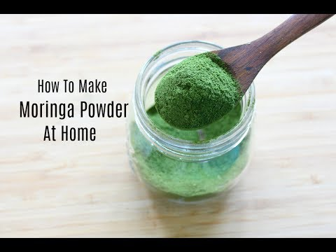 Moringa Powder - How To Make Moringa Powder At Home - Drumstick Leaves Powder - Skinny Recipes