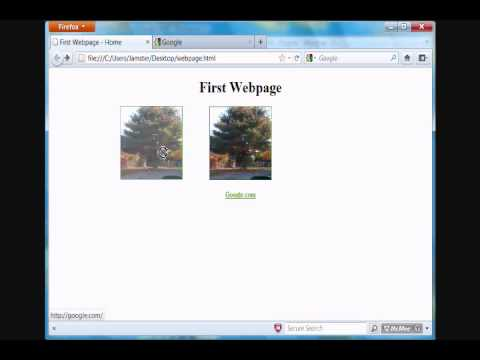 HTML Tutorial 7 - Changing Link Color and Linking Images