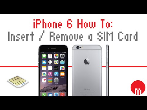 iPhone 6 and 6S How To: Insert / Remove a SIM Card
