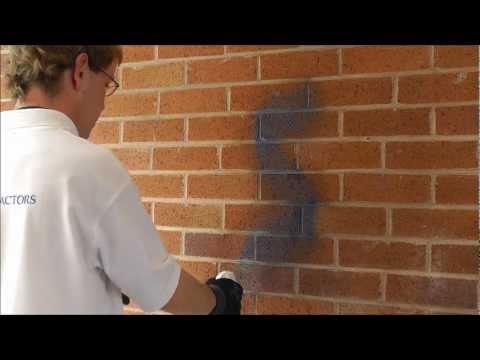 P C Contractors Graffiti Cleaning Brick
