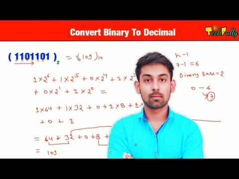 Convert Binary To Decimal Number In Hindi | By Nirbhay Kaushik