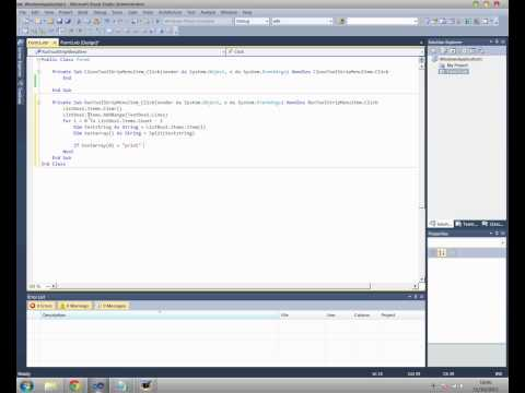 Visual Basic - How to create a simple programming language.