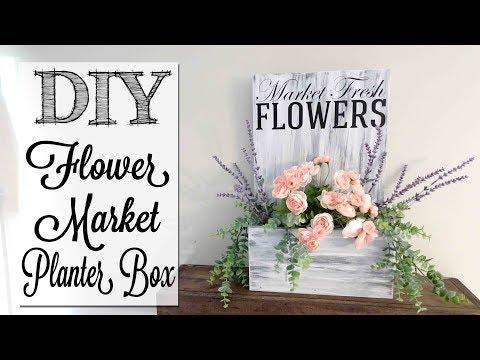 DIY Fresh Flower Market Planter Box