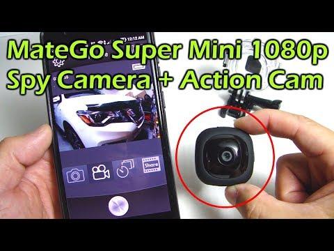 MateGo Super Mini 1080p Spy Camera  + Action Camera
