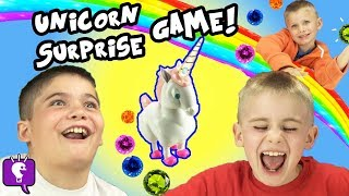 UNICORN SURPRISE with Lucky Charms! Marshmallow Hunt by HobbyKidsTV