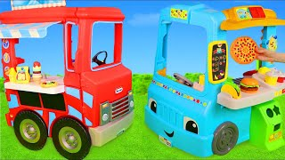 Food Truck Toys with Kitchen Cooking & Play Doh Ice Cream for Kids