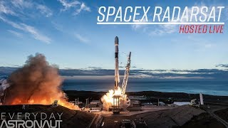 Watch SpaceX launch their most expensive payload ever! (RadarSat)