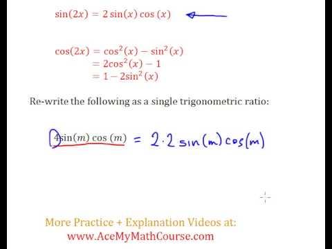 Double Angle Identities (Trigonometry) - Question #1