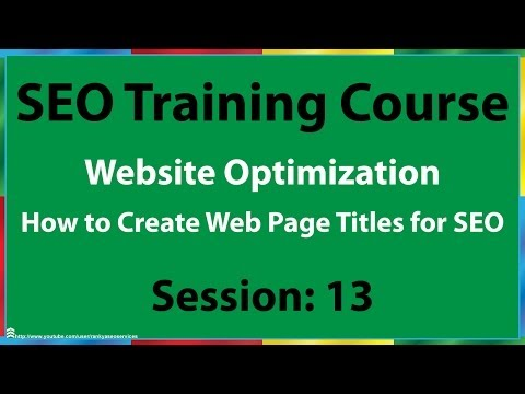 13 How to Create Web Page Titles for SEO