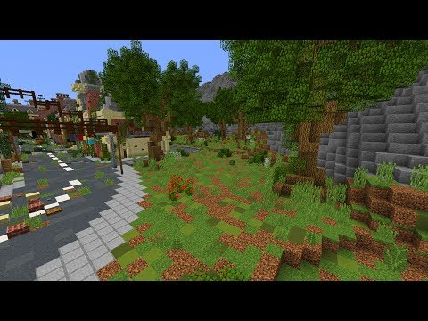 Minecraft: Apocalyptic City Let's Build #3   Trees, Bushes, Flowers!