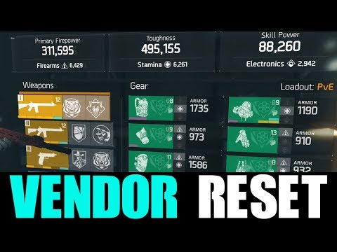 THE DIVISION - GOOD VENDOR RESET | GOD ROLL WEAPONS, GEAR & GEAR MODS! (YOU NEED TO BUY)