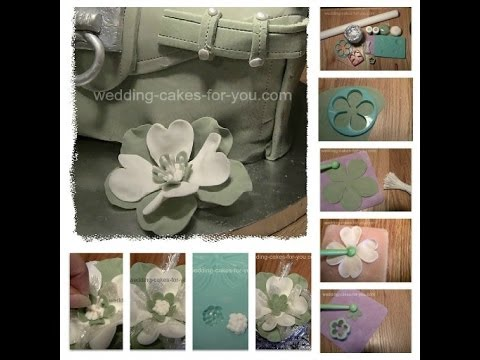 Simple Gumpaste Flowers Dogwood