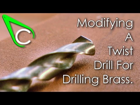 Spare parts #7 - Modifying A Twist Drill For Drilling Brass