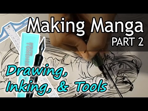 ❤ How to Make Manga (PART 2) ❤ Drawing, Inking, Toning, & Tools to Use (NO DIGITAL)