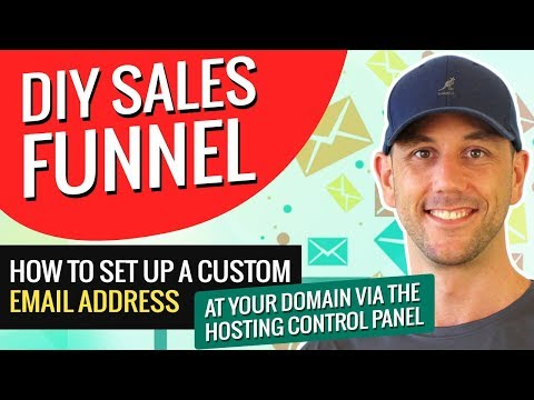DIY Sales Funnel - How To Set Up A Custom Email Address At Your Domain Via The Hosting Control Panel