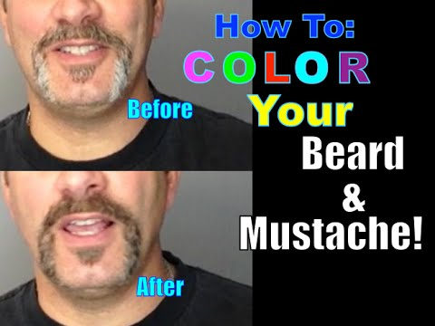How To Dye or Color Your Mustache and Beard