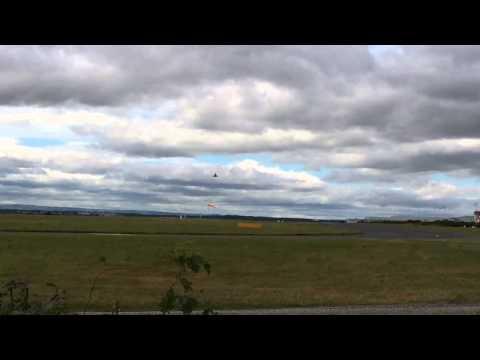 RAF Typhoon leaving Liverpool Airport